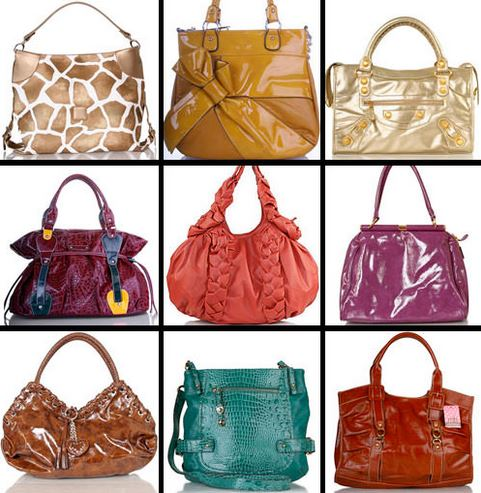 Assortment of handbags