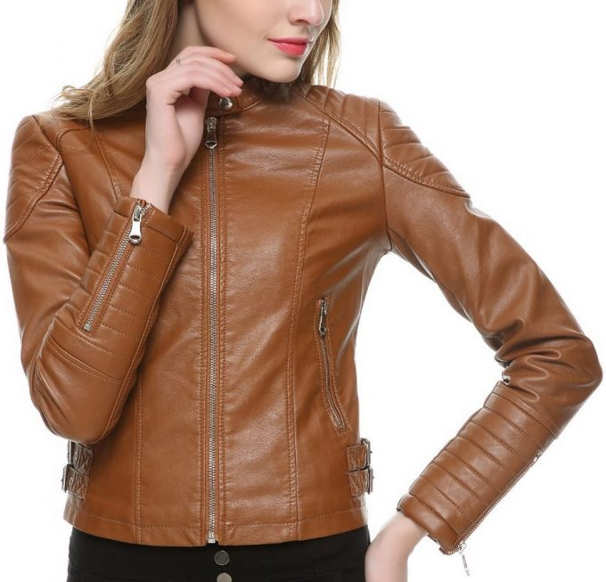 Faux Leather (Brown) Jacket